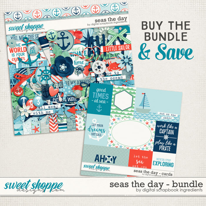 Seas The Day Bundle by Digital Scrapbook Ingredients