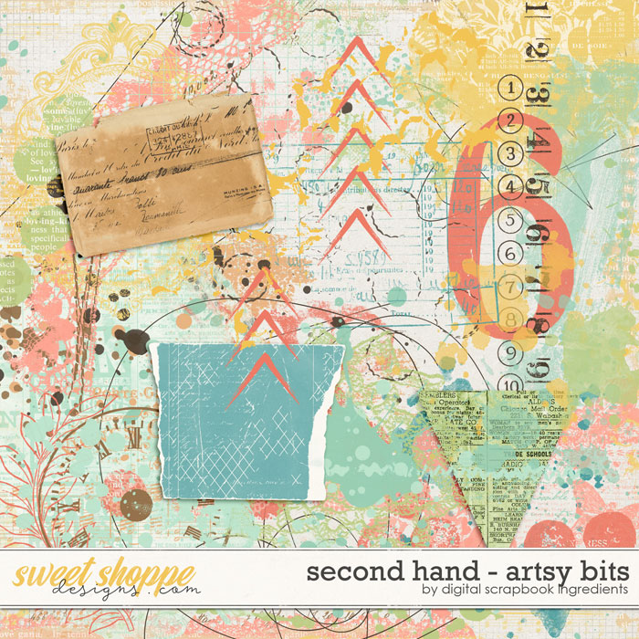 Second Hand | Artsy Bits by Digital Scrapbook Ingredients