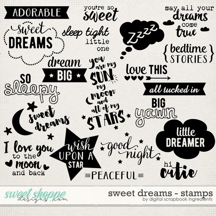 Sweet Dreams | Stamps by Digital Scrapbook Ingredients