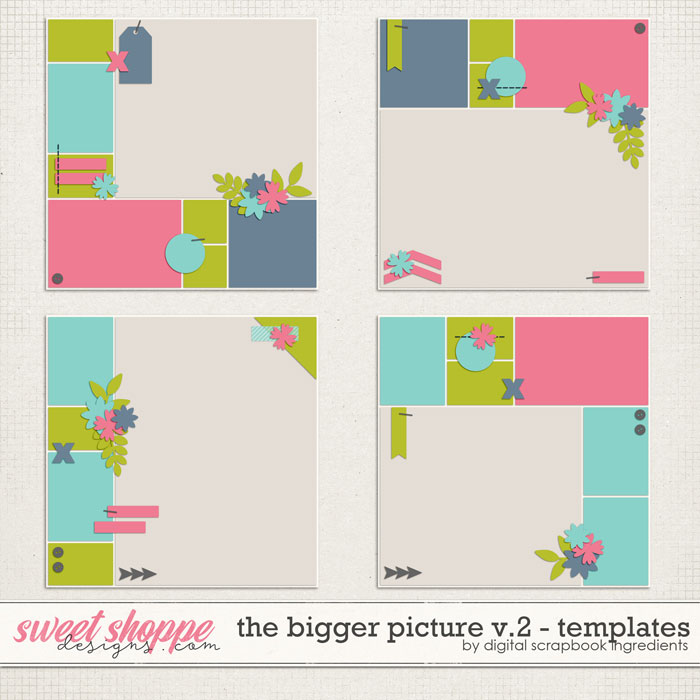 The Bigger Picture Templates Vol.2 by Digital Scrapbook Ingredients