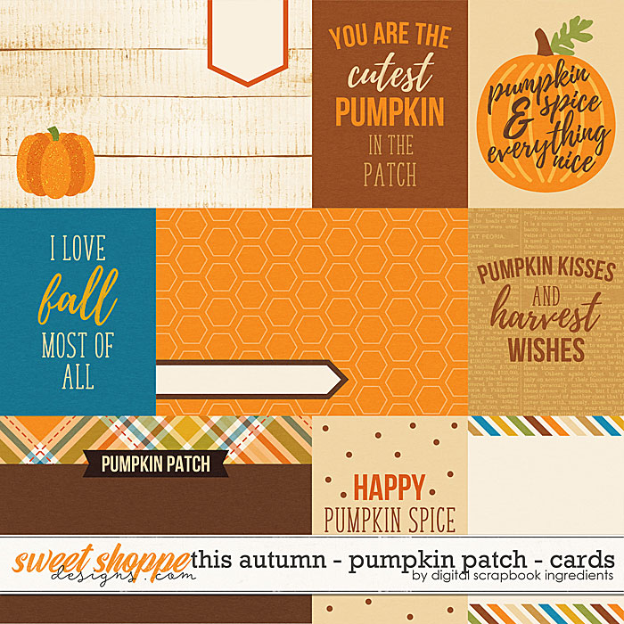 This Autumn - Pumpkin Patch | Cards by Digital Scrapbook Ingredients