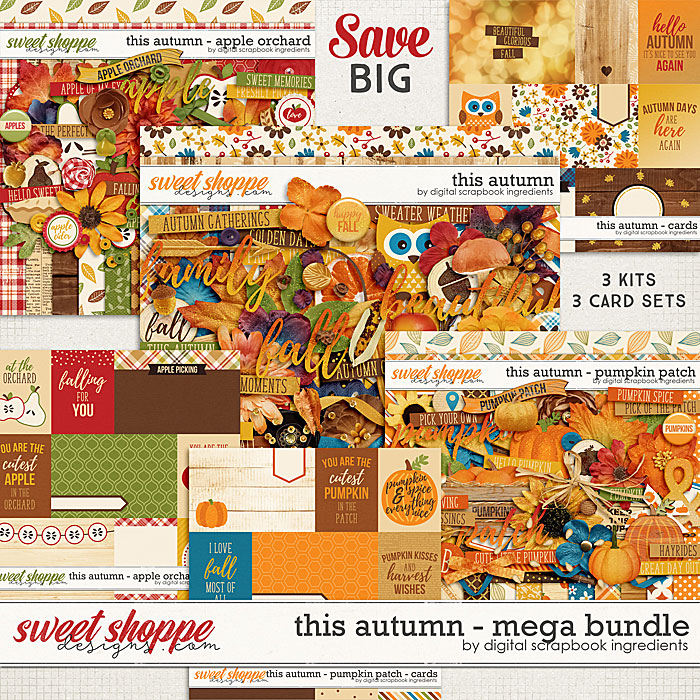 This Autumn | Mega Bundle by Digital Scrapbook Ingredients