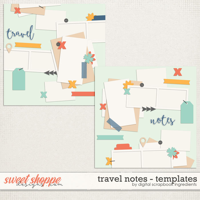 Travel Notes | Templates by Digital Scrapbook Ingredients