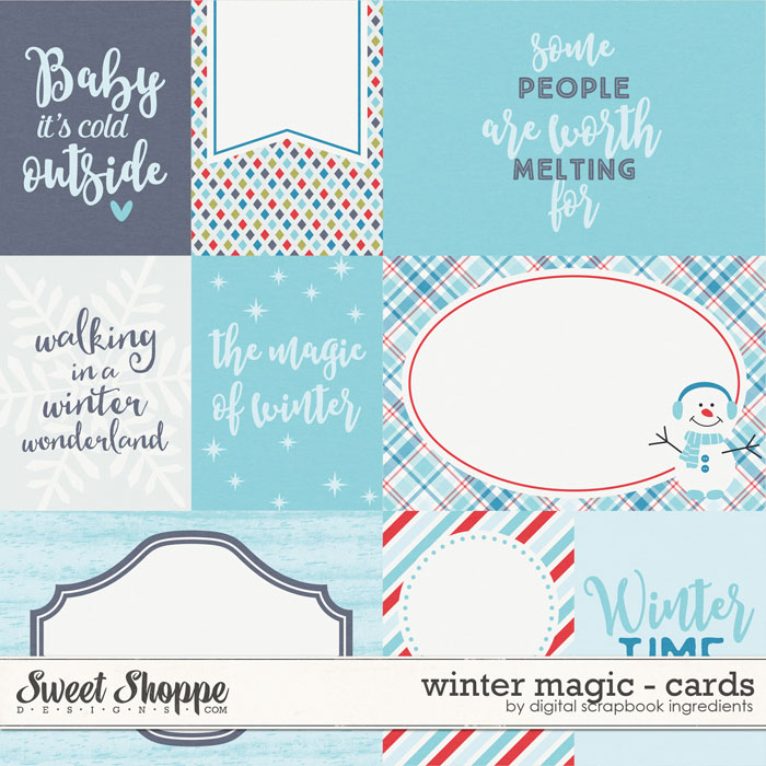Winter Magic | Journal Cards by Digital Scrapbook Ingredients