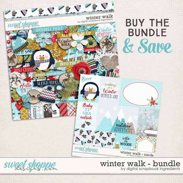 Winter Walk Bundle by Digital Scrapbook Ingredients