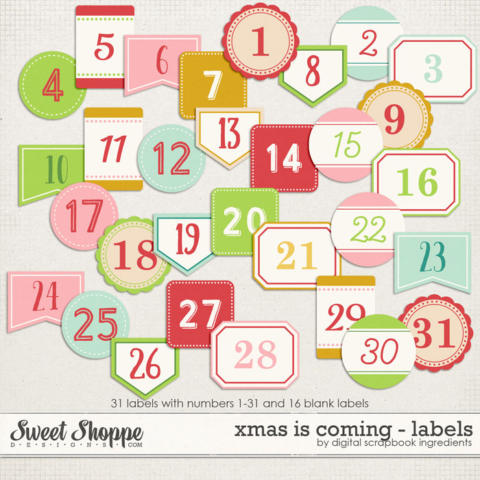 Xmas Is Coming | Labels by Digital Scrapbook Ingredients