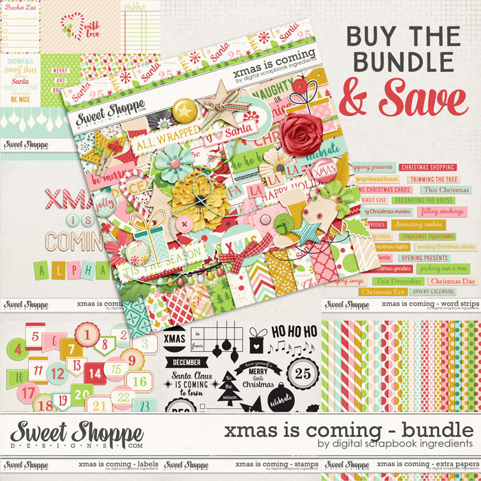 Xmas Is Coming Bundle by Digital Scrapbook Ingredients
