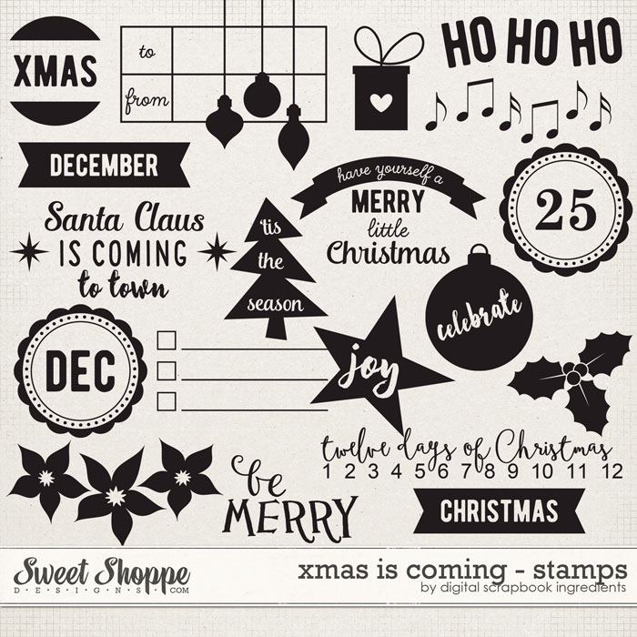 Xmas Is Coming | Stamps by Digital Scrapbook Ingredients