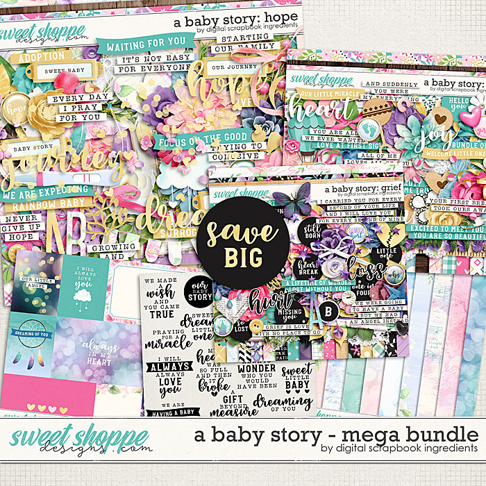 A Baby Story Mega Bundle by Digital Scrapbook Ingredients