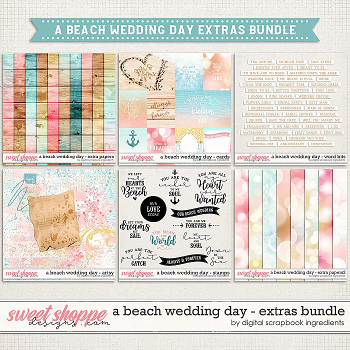 A Beach Wedding Day   Extras Bundle by Digital Scrapbook Ingredients