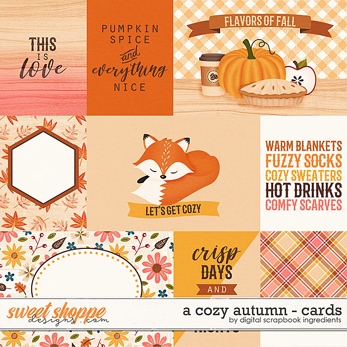 A Cozy Autumn | Cards by Digital Scrapbook Ingredients