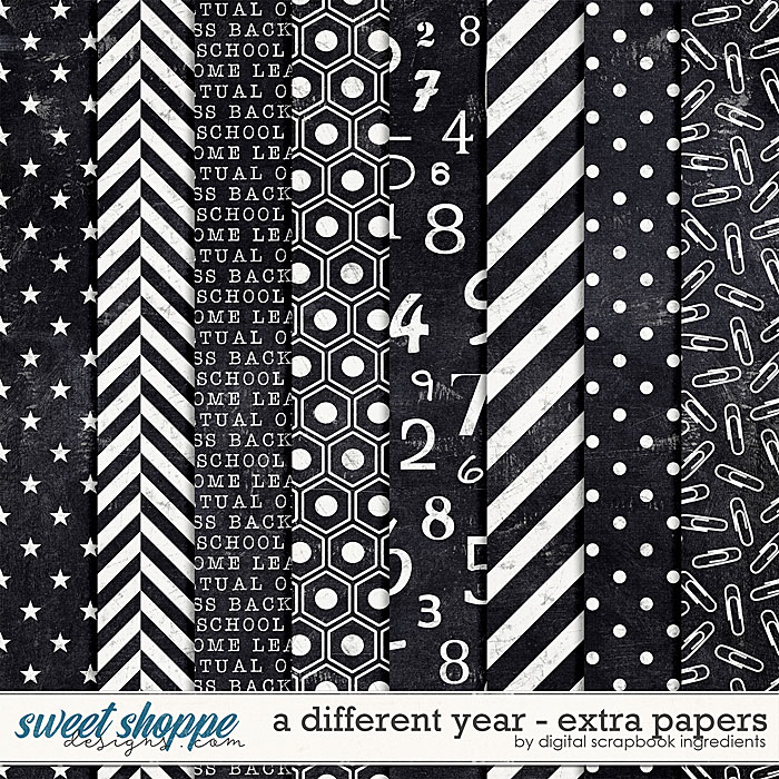 A Different Year | Extra Papers by Digital Scrapbook Ingredients