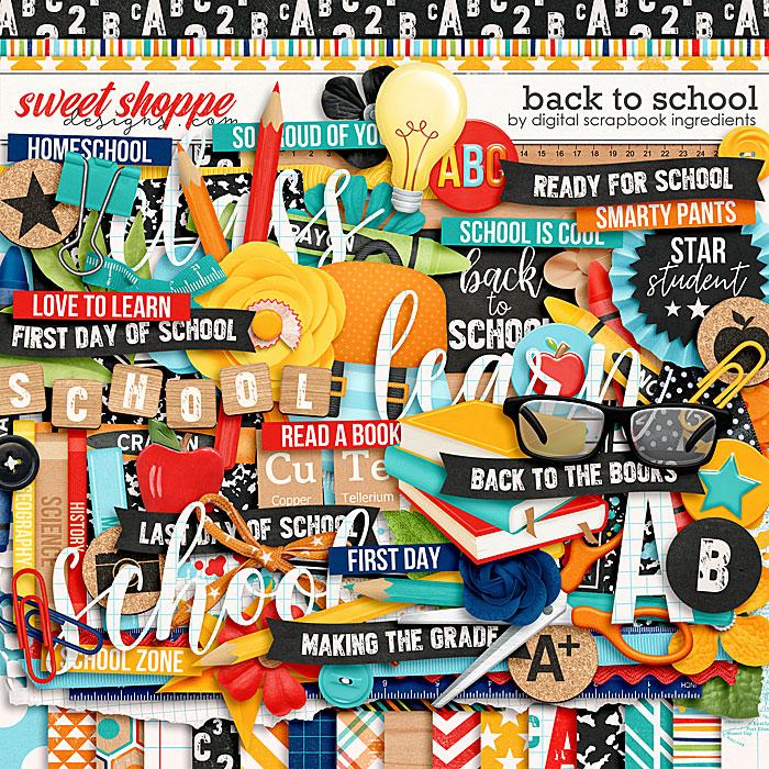 Back To School by Digital Scrapbook Ingredients
