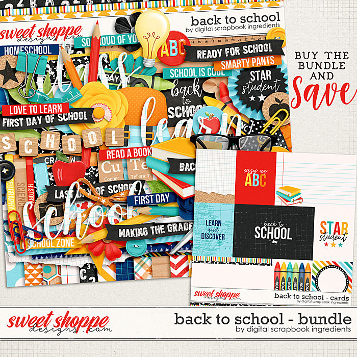 Back To School Bundle by Digital Scrapbook Ingredients