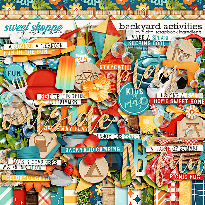 Backyard Activities by Digital Scrapbook Ingredients