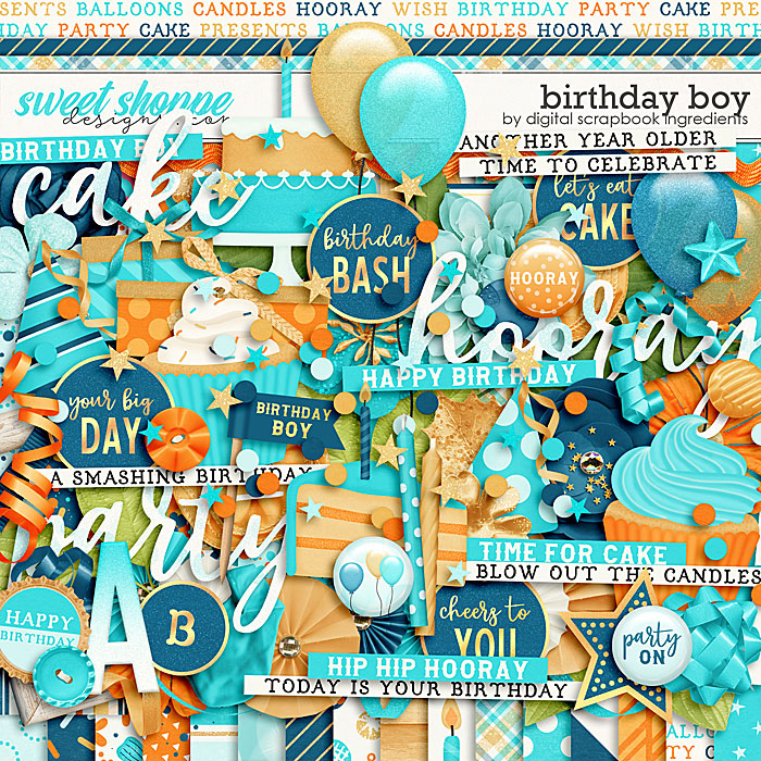 Birthday Boy by Digital Scrapbook Ingredients