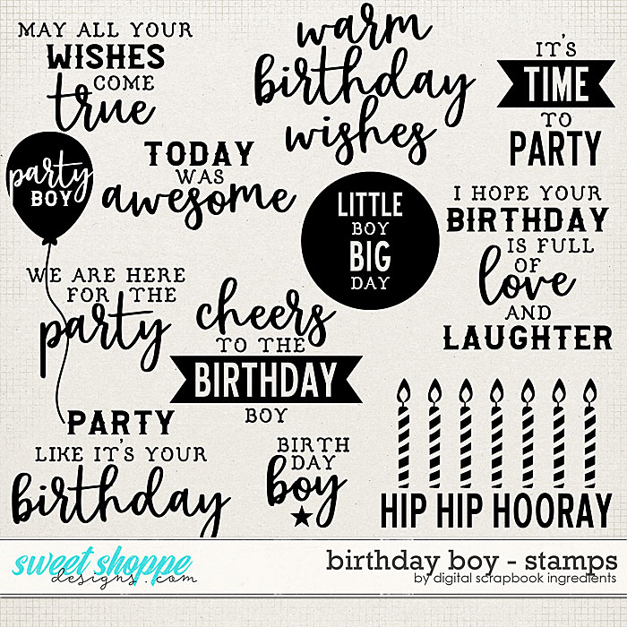 Birthday Boy | Stamps by Digital Scrapbook Ingredients