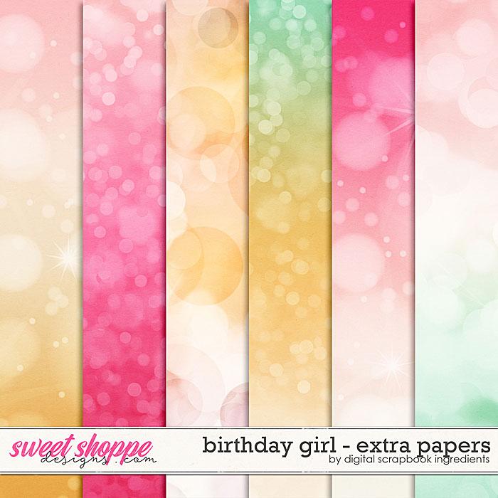 Birthday Girl | Extra Papers by Digital Scrapbook Ingredients