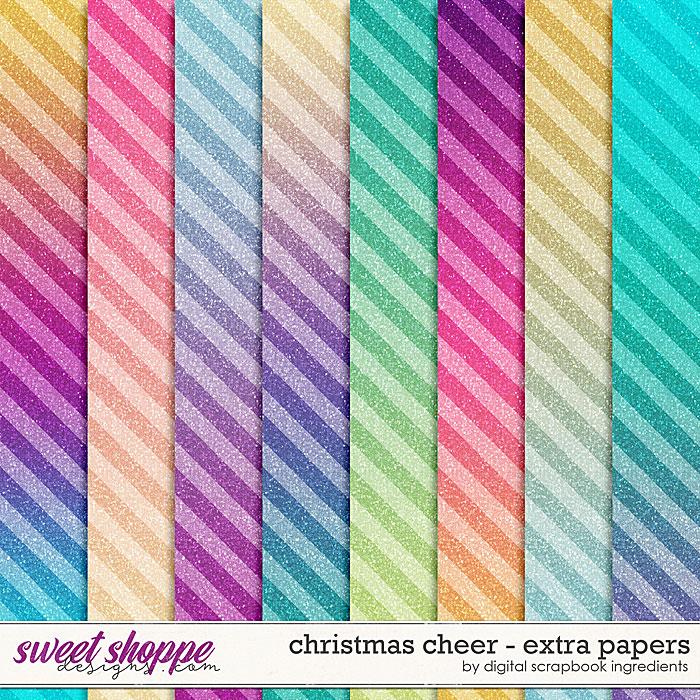 Christmas Cheer | Extra Papers by Digital Scrapbook Ingredients