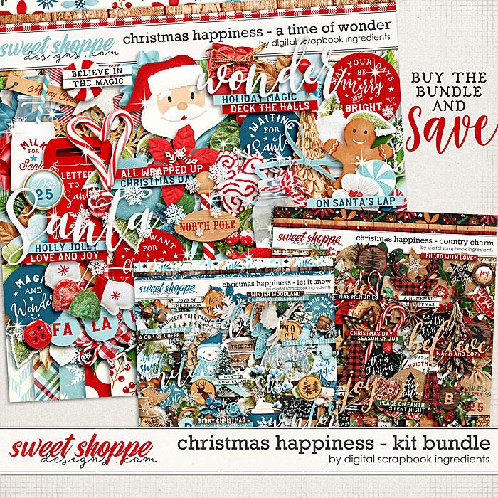 Christmas Happiness Kit Bundle by Digital Scrapbook Ingredients