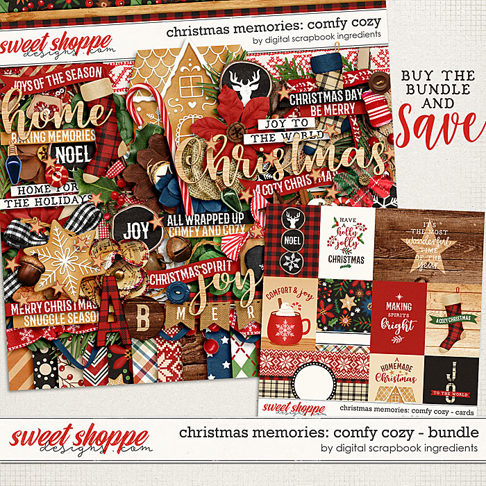Christmas Memories: Comfy Cozy Bundle by Digital Scrapbook Ingredients