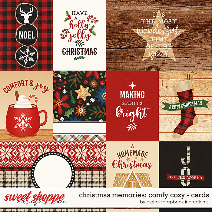Christmas Memories: Comfy Cozy | Cards by Digital Scrapbook Ingredients