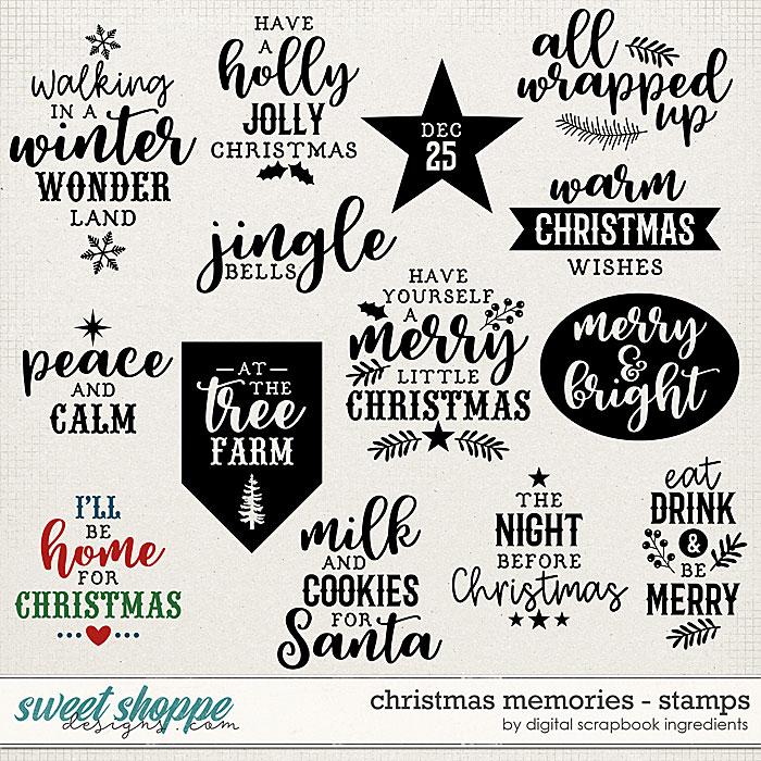 Christmas Memories | Stamps by Digital Scrapbook Ingredients