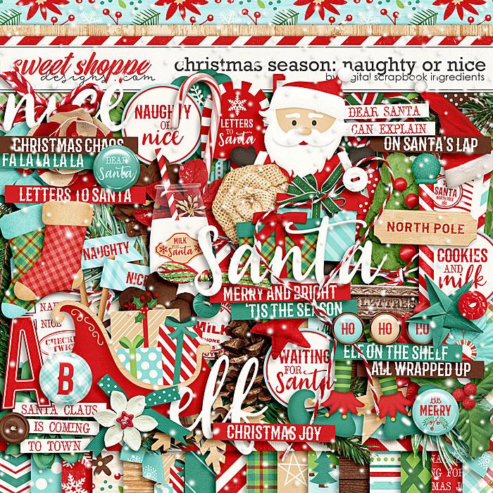 Christmas Season: Naughty or Nice by Digital Scrapbook Ingredients