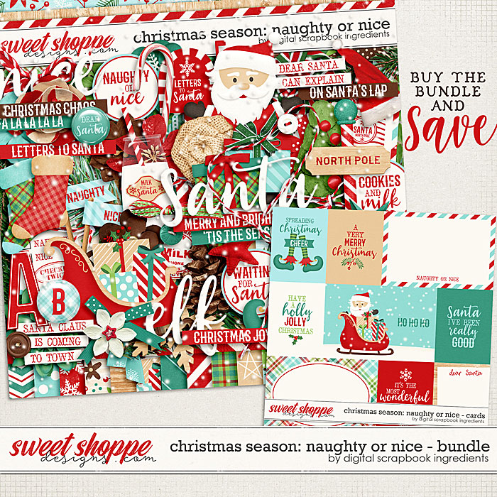Christmas Season: Naughty or Nice bundle by Digital Scrapbook Ingredients