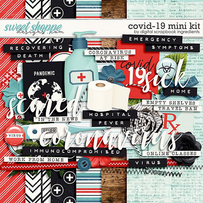 Covid-19 Mini Kit + Freebie by Digital Scrapbook Ingredients