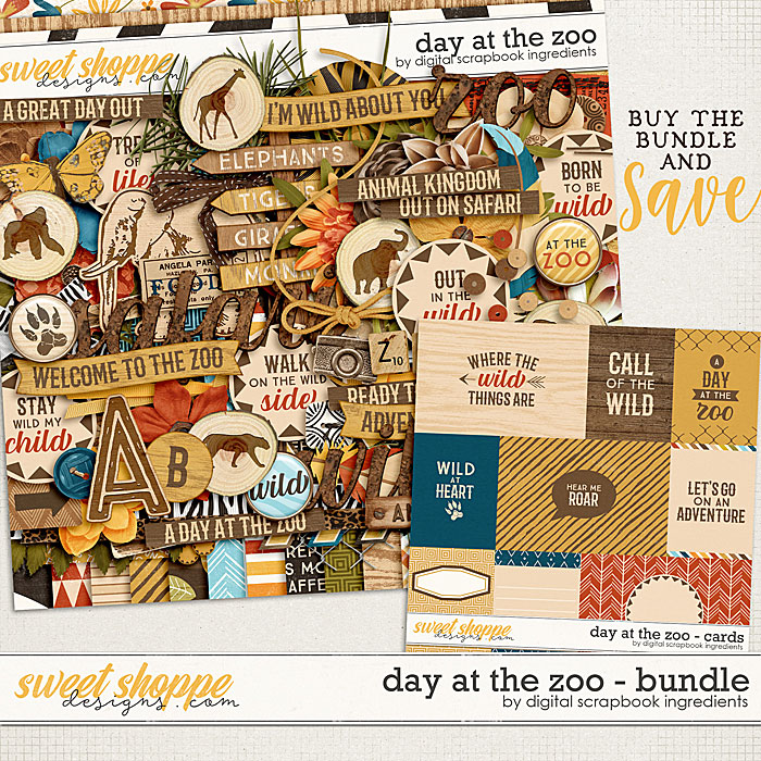 Day At The Zoo Bundle & *FWP* by Digital Scrapbook Ingredients