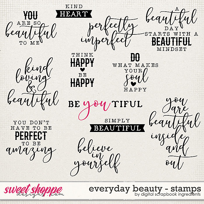Everyday Beauty | Stamps by Digital Scrapbook Ingredients