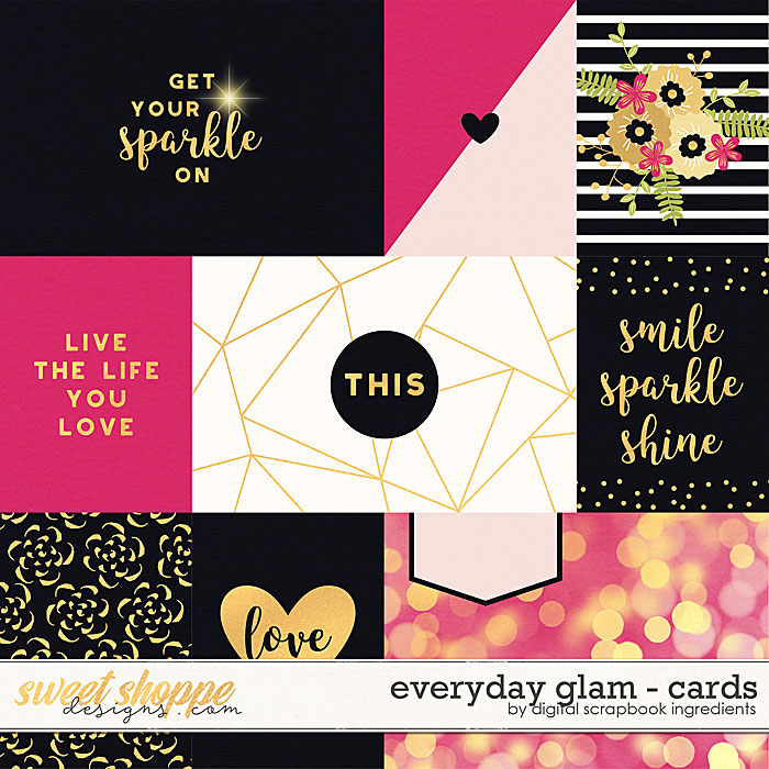 Everyday Glam | Cards by Digital Scrapbook Ingredients