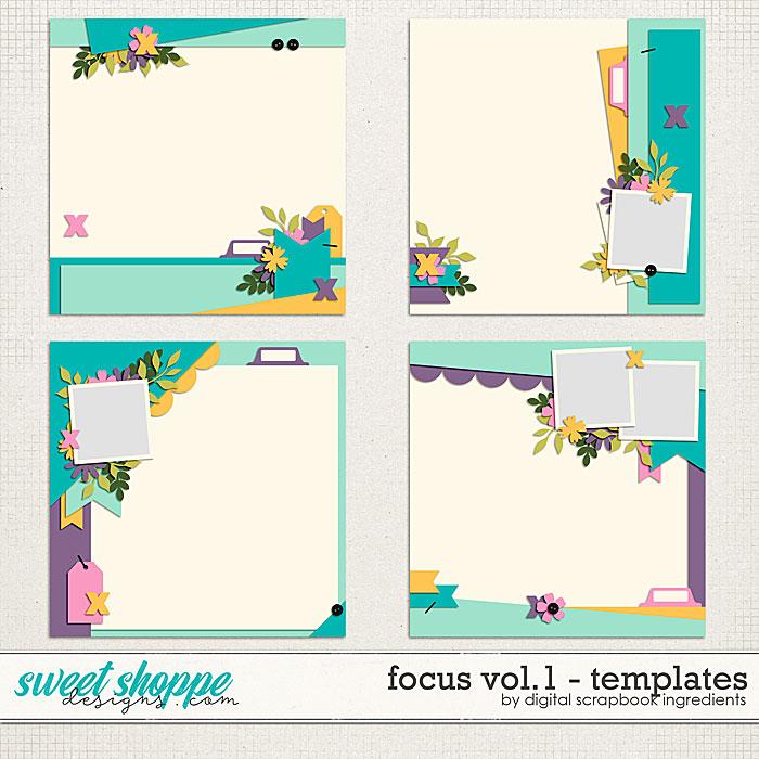 Focus Templates Vol.1 by Digital Scrapbook Ingredients