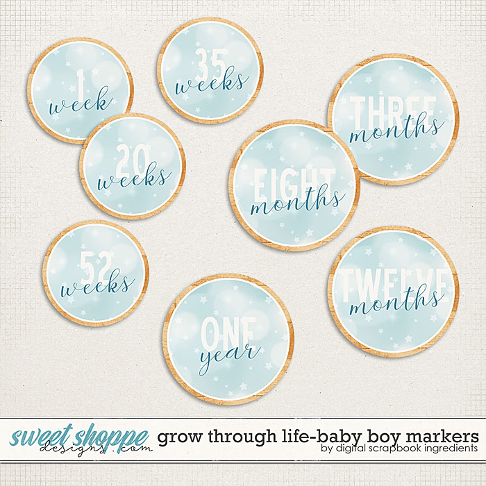 Grow Through Life - Baby Boy | Markers by Digital Scrapbook Ingredients