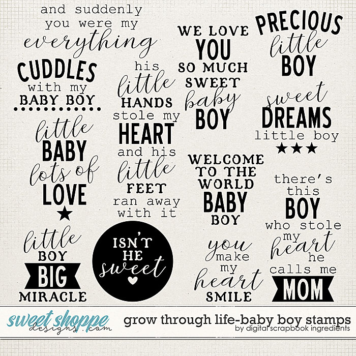 Grow Through Life - Baby Boy | Stamps by Digital Scrapbook Ingredients