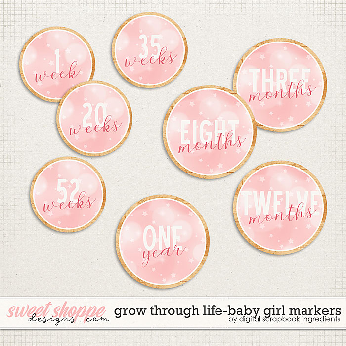 Grow Through Life - Baby Girl | Markers by Digital Scrapbook Ingredients