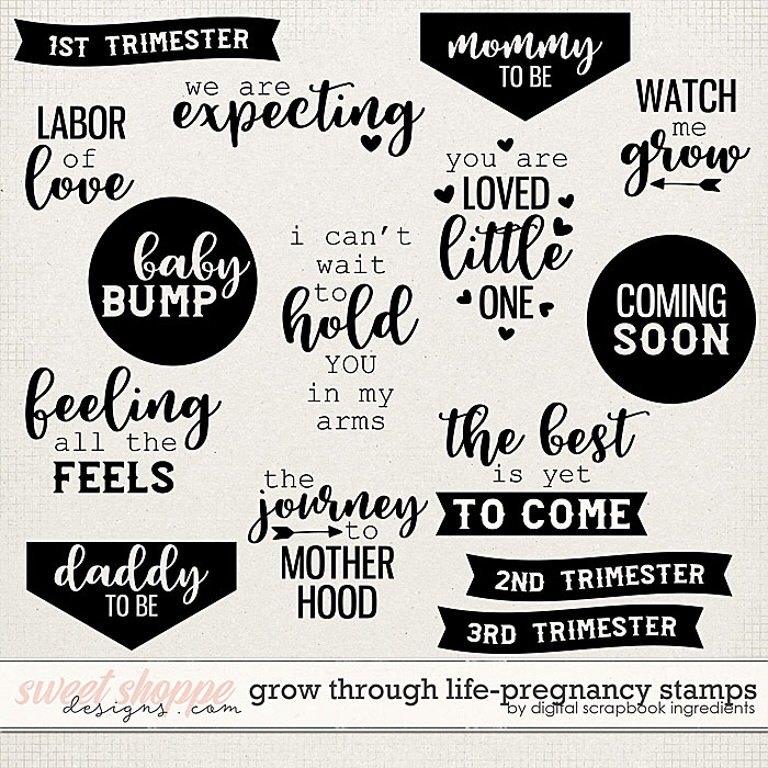 Grow Through Life - Pregnancy | Stamps by Digital Scrapbook Ingredients