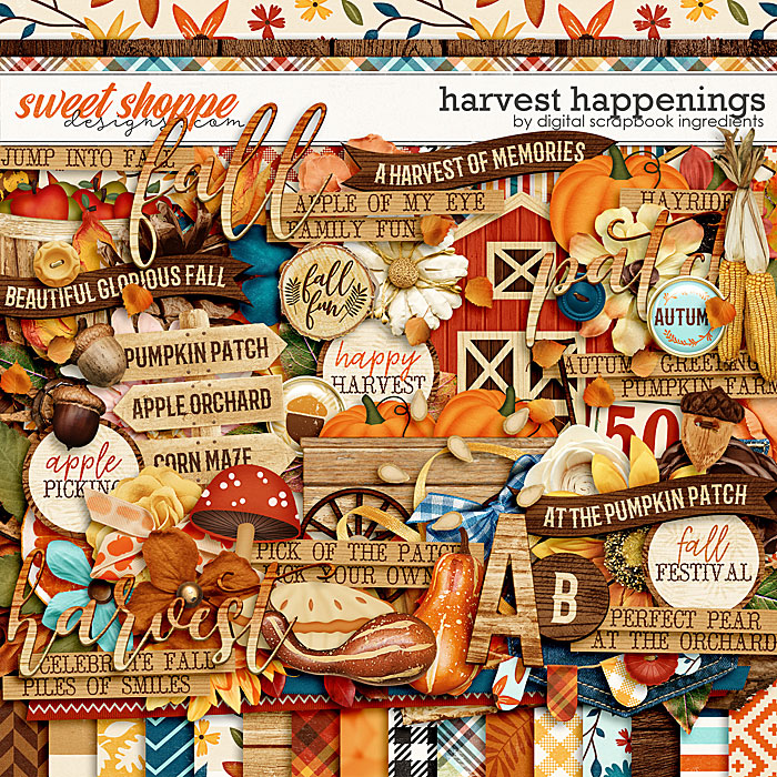 Harvest Happenings by Digital Scrapbook Ingredients