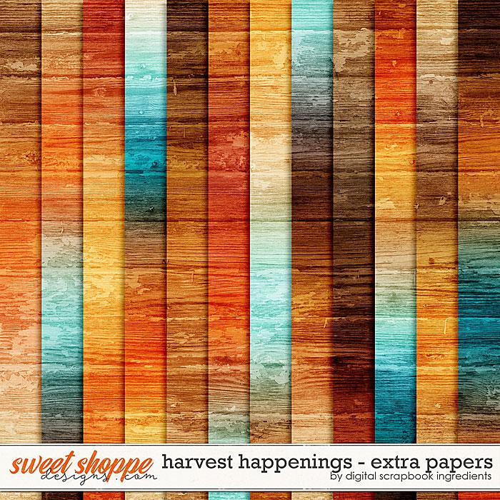 Harvest Happenings | Extra Papers by Digital Scrapbook Ingredients