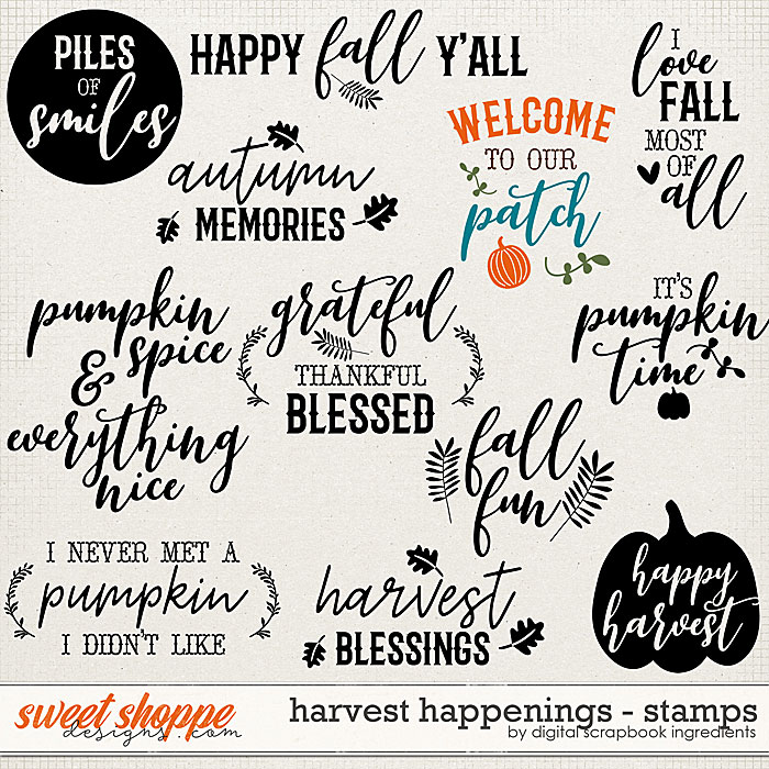 Harvest Happenings | Stamps by Digital Scrapbook Ingredients