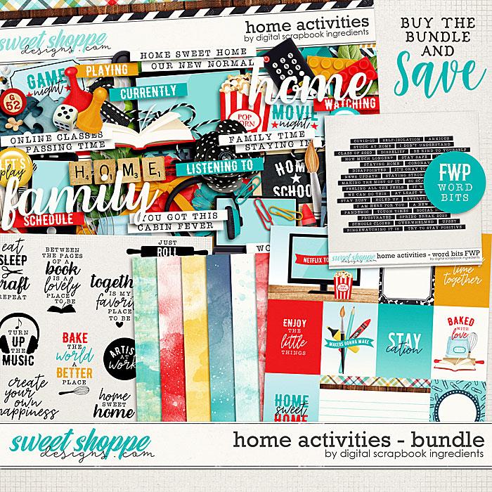 Home Activities Bundle & *FWP* by Digital Scrapbook Ingredients
