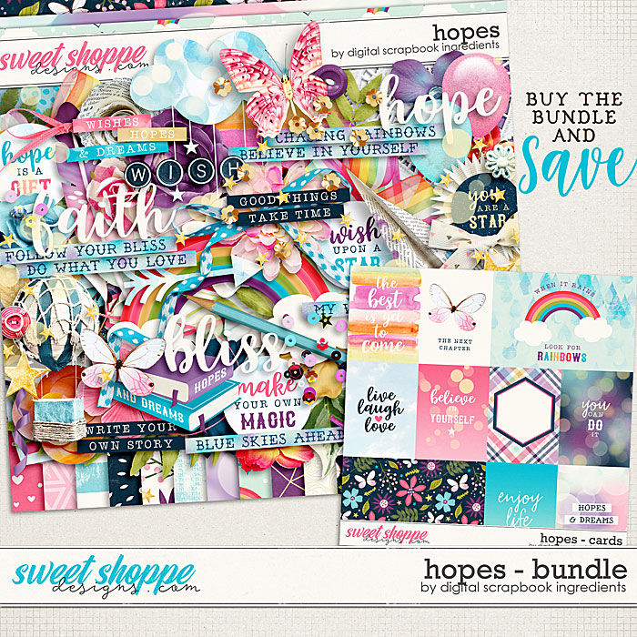 Hopes Bundle by Digital Scrapbook Ingredients
