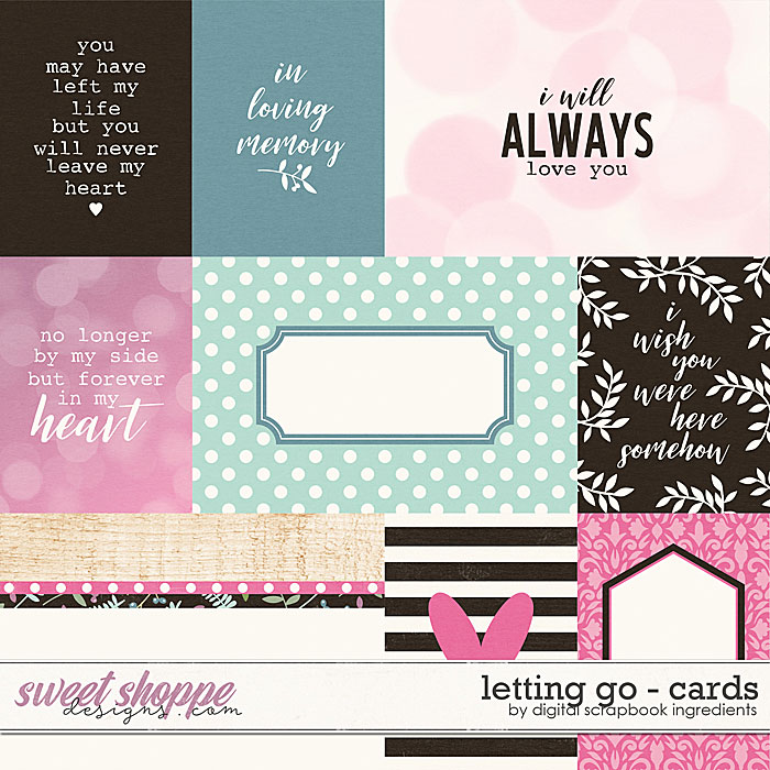 Letting Go | Cards by Digital Scrapbook Ingredients