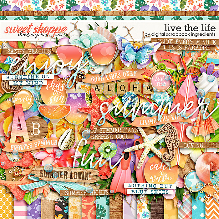 Live The Life by Digital Scrapbook Ingredients