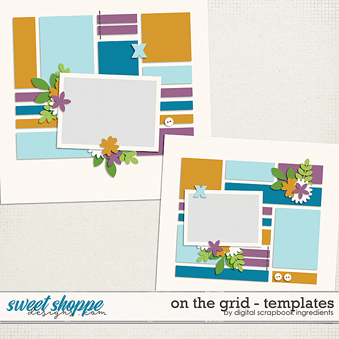 On The Grid Templates Vol.1 by Digital Scrapbook Ingredients