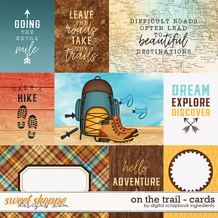 On The Trail | Cards by Digital Scrapbook Ingredients