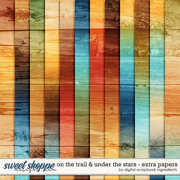 On The Trail & Under The Stars   Extra Papers by Digital Scrapbook Ingredients