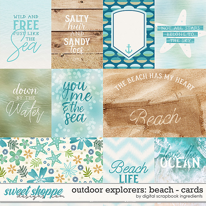 Outdoor Explorers: Beach | Cards by Digital Scrapbook Ingredients