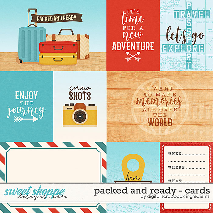 Packed And Ready | Cards by Digital Scrapbook Ingredients